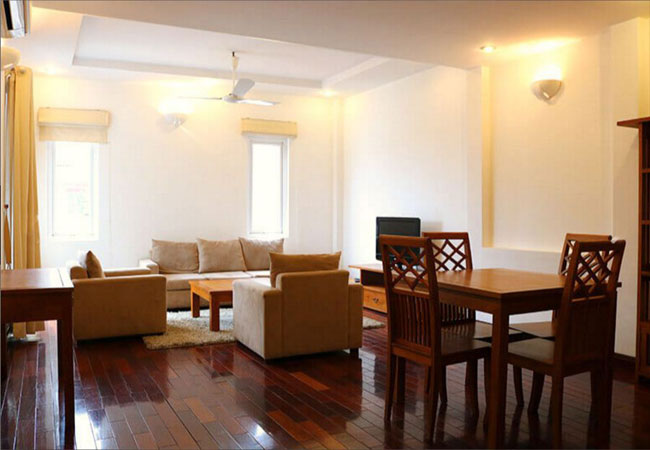Beautiful serviced apartment in Quang An for rent