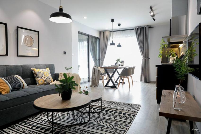 Scandinavian style apartment for rent in Cat Linh