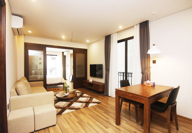 Serviced apartment for rent in Van Bao street, Ba Dinh district
